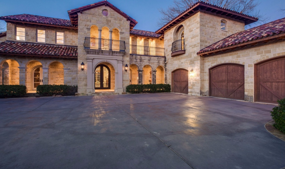 Million mediterranean stone mansion in dallas tx for Mansions in dallas tx