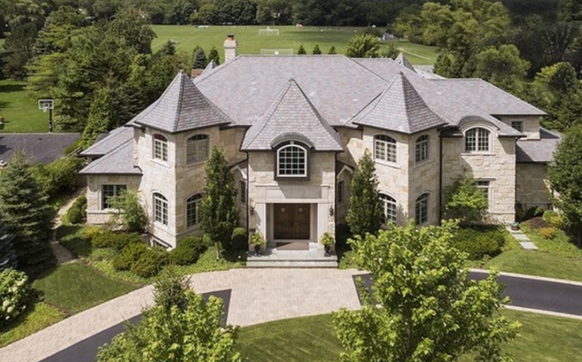 $3.5 Million Stone Mansion In Wilmette, IL