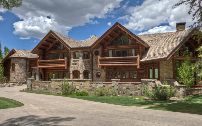 17,000 Square Foot Log & Stone Mansion In Mountain Village, CO