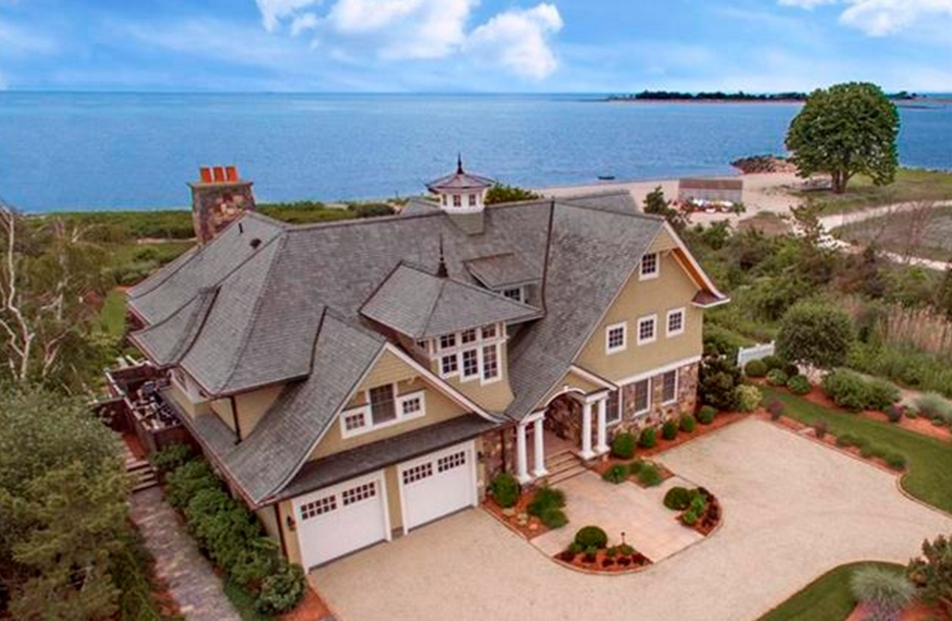 $7.695 Million Stone & Shingle Waterfront Home In Westport, CT