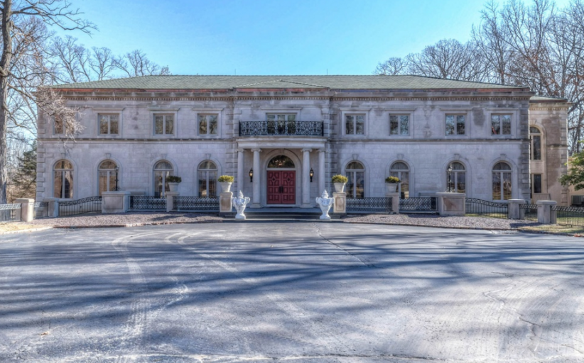 14,000 Square Foot Limestone Mansion In Creve Coeur, MO