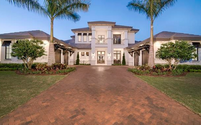 $4.295 Million Newly Built Waterfront Home In Miromar Lakes, FL