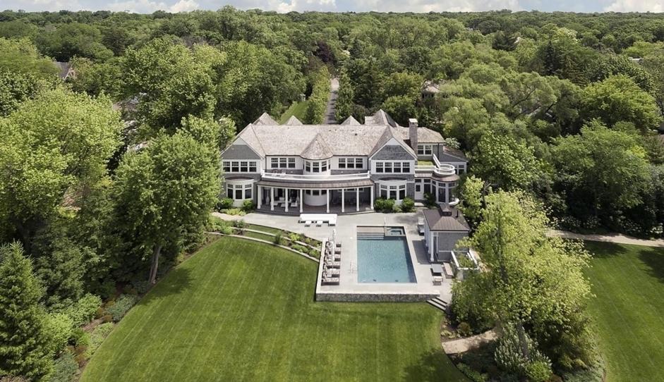 11,000 Square Foot Shingle Style Mansion In Glencoe, IL