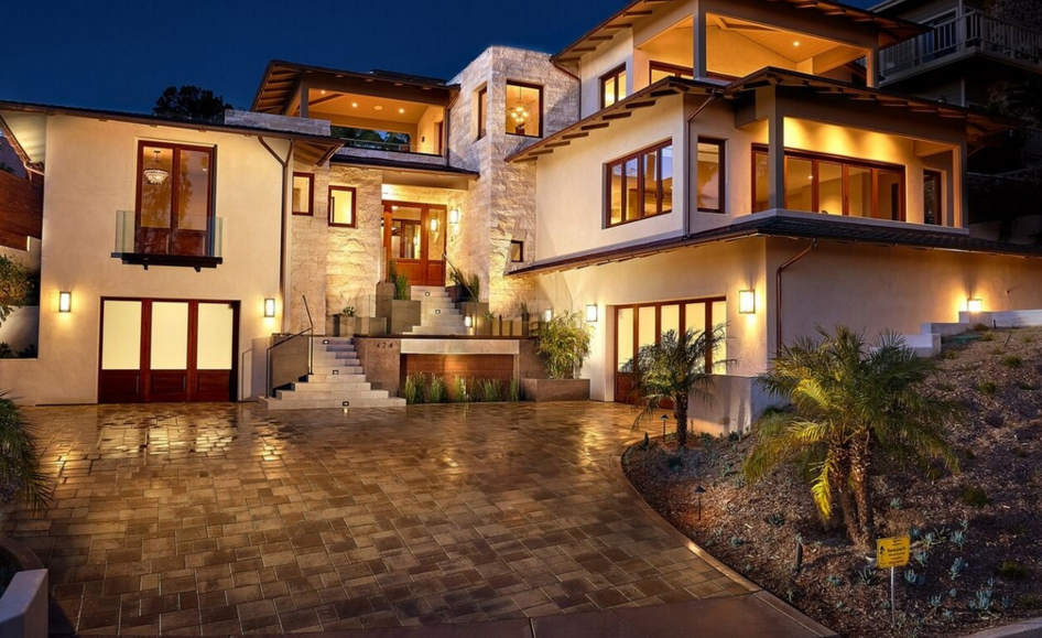 $5.195 Million Newly Built Contemporary Home In Cardiff By The Sea, CA