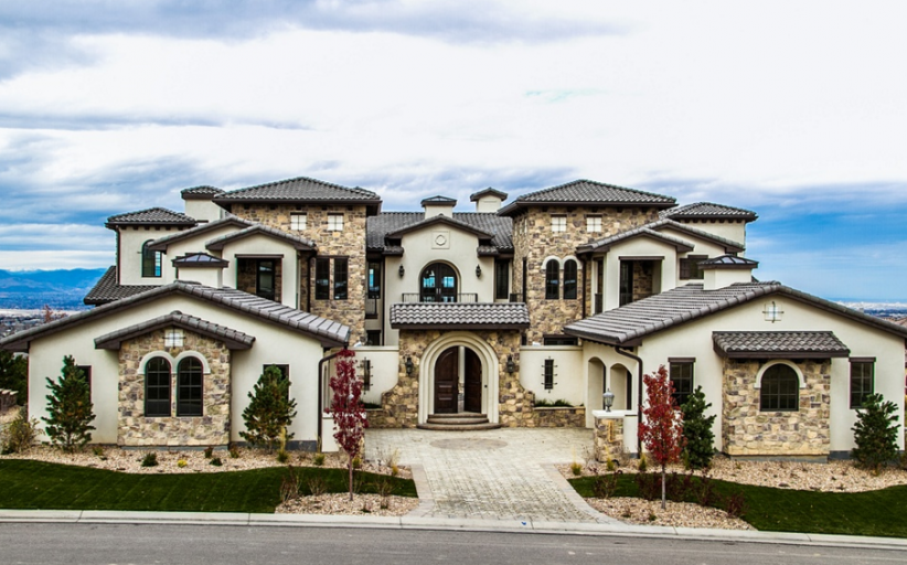 13,000 Square Foot Stone & Stucco Mansion In Highlands Ranch, CO