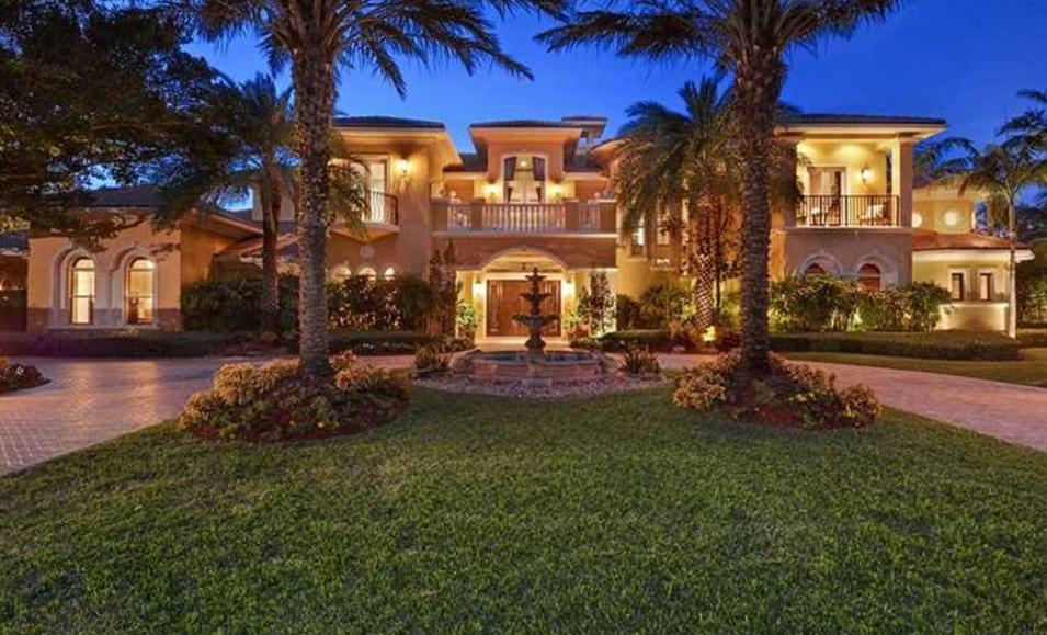 10,000 Square Foot Mediterranean Waterfront Mansion In Weston, FL