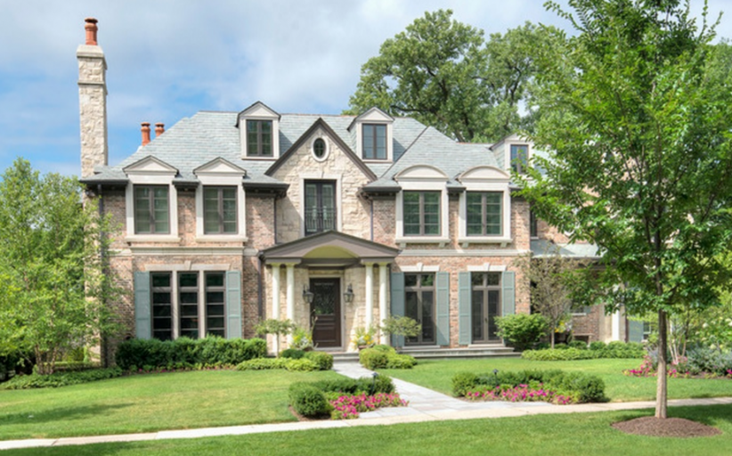 $3.9 Million Brick & Stone Home In Winnetka, IL