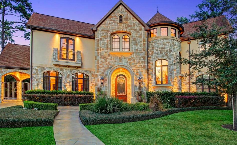 $3.995 Million Stone & Stucco Mansion In Houston, TX
