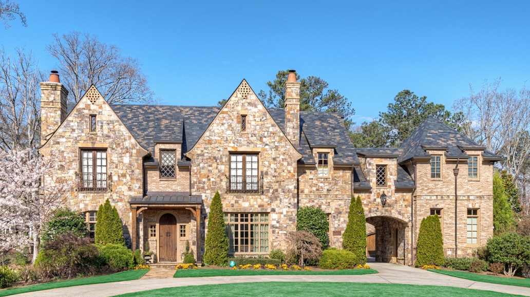 $2.995 Million Brick & Stone Mansion In Atlanta, GA