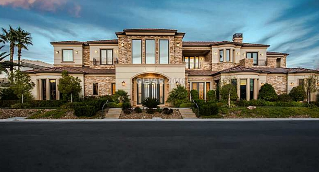 16,000 Square Foot Stone & Stucco Mansion In Las Vegas, NV