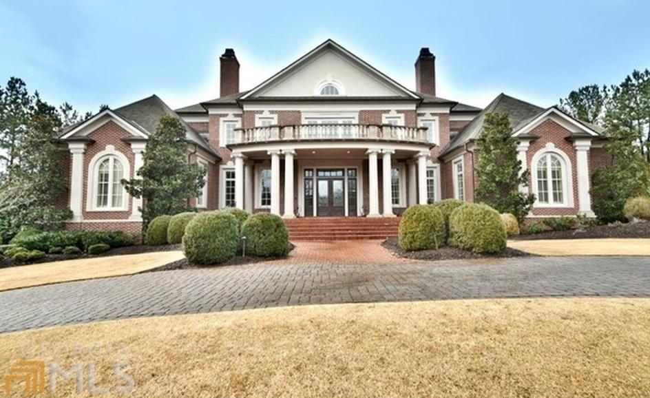 11,000 Square Foot Brick Mansion In Suwanee, GA