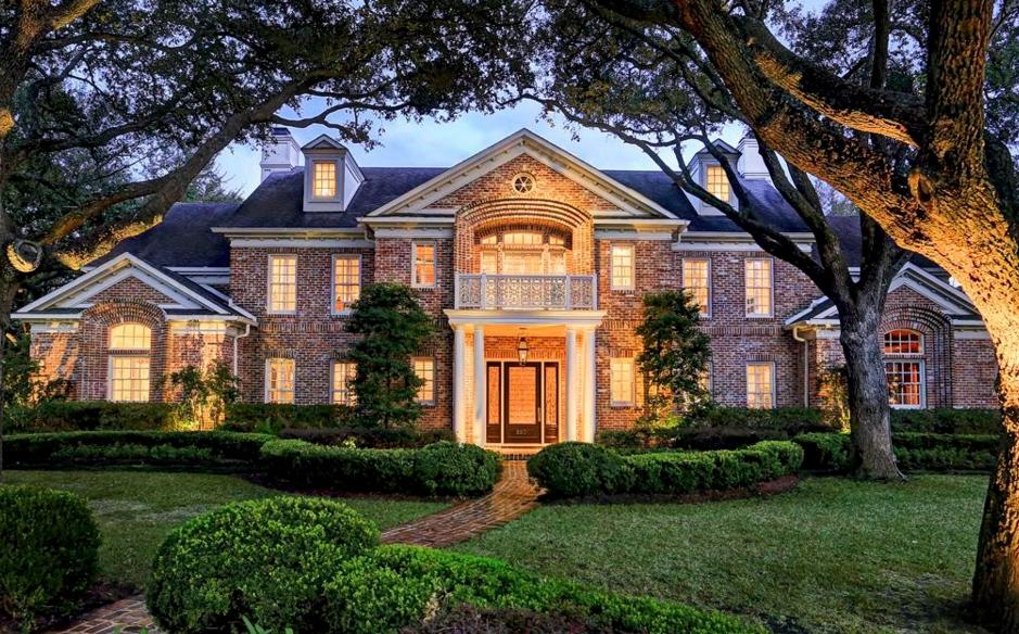 $3.75 Million Brick Georgian Mansion In Houston, TX