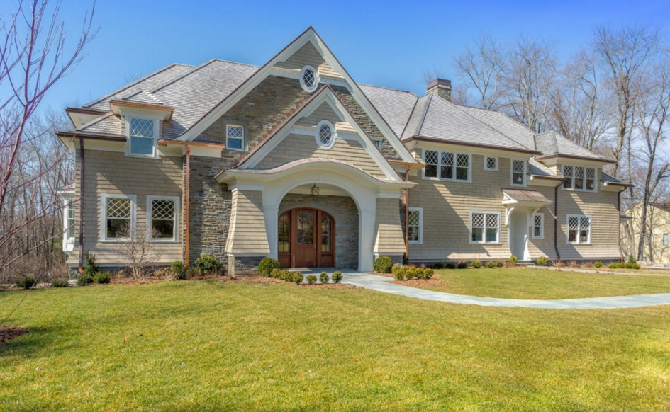 10,000 Square Foot Newly Built Shingle & Stone Mansion In Greenwich, CT