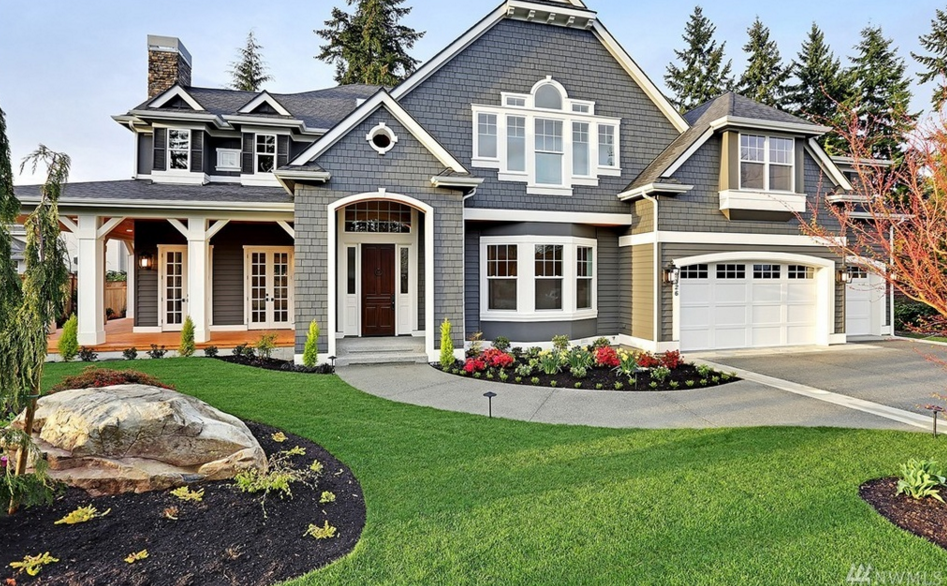 3 3 million newly built craftsman style home in bellevue for Houses images pictures