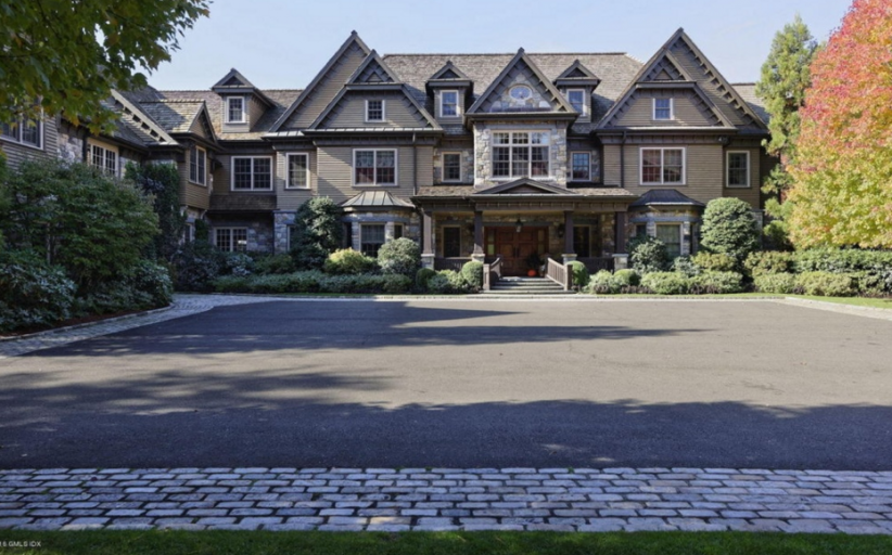 12,000 Square Foot Shingle & Stone Mansion In Greenwich, CT