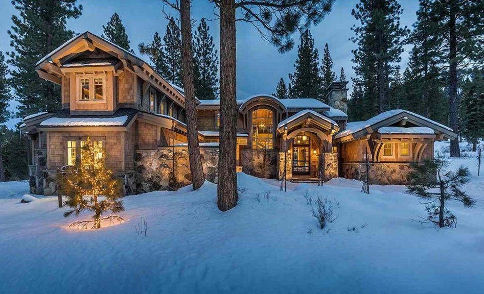 $5.795 Million Newly Built Wood & Stone Home In Truckee, CA