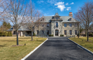 $10.5 Million Newly Built French Normandy Inspired Stone Mansion In Riverside, CT