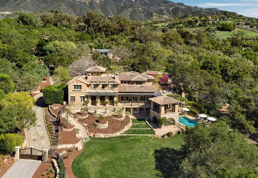 $11.9 Million Tuscan Inspired Mansion in Santa Barbara, CA