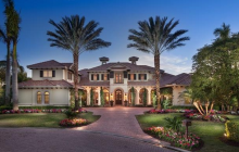 10,000 Square Foot Lakefront Mansion In Naples, FL