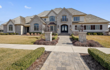 15,000 Square Foot Stone & Stucco Mansion In Munster, IN