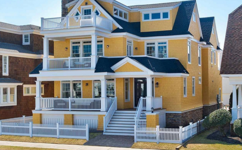 $3.995 Million Newly Built Shingle & Stone Home In Longport, NJ