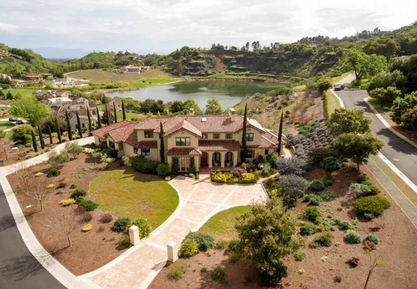 $5.7 Million Spanish Style Lakefront Home In Los Altos, CA
