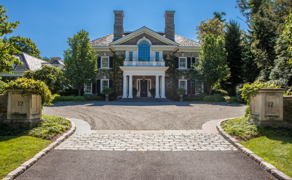 11,000 Square Foot Stone Colonial Mansion In Scarsdale, NY