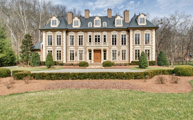 $3.2 Million French Inspired Brick Mansion In Franklin, TN