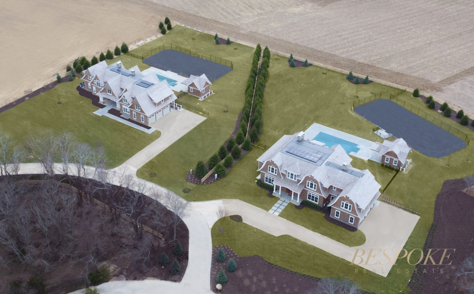 Two Newly Built Side-By-Side Shingle Homes In Water Mill, NY