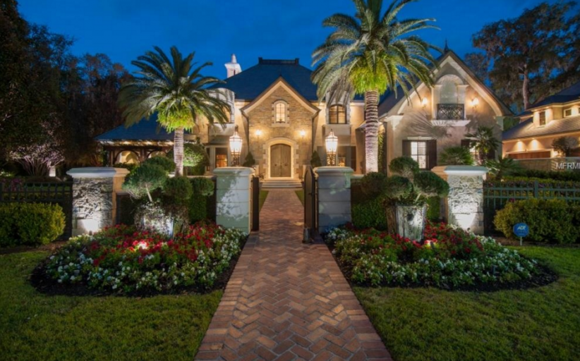 $3.25 Million French Inspired Mansion In Flagler Beach, FL
