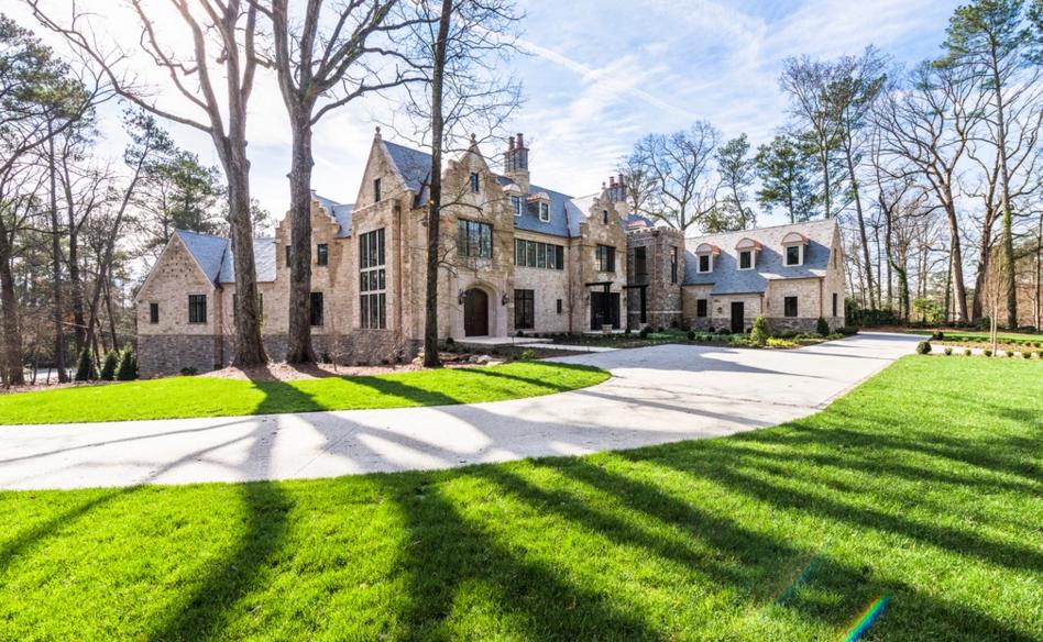 More Pics Of A 13,000 Square Foot Newly Built Tudor Stone Mansion In Atlanta, GA