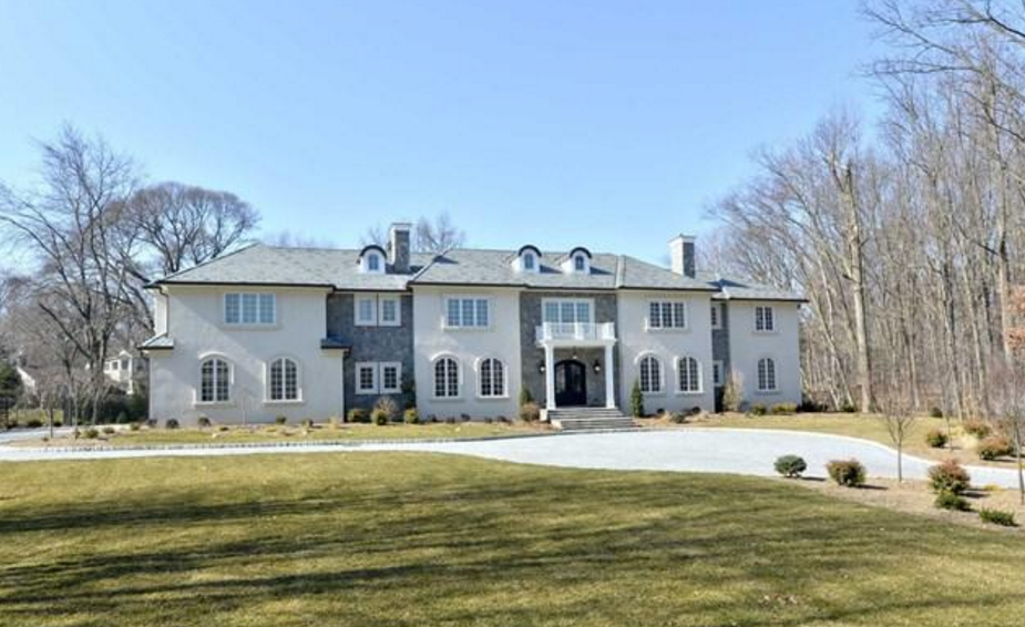 $5.995 Million Newly Built Stone & Stucco Mansion In Saddle River, NJ