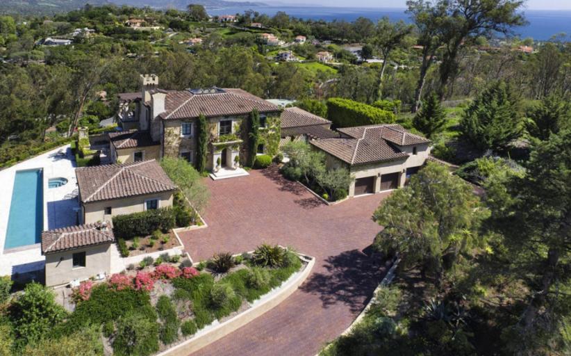 $5.95 Million Hilltop Home In Santa Barbara, CA