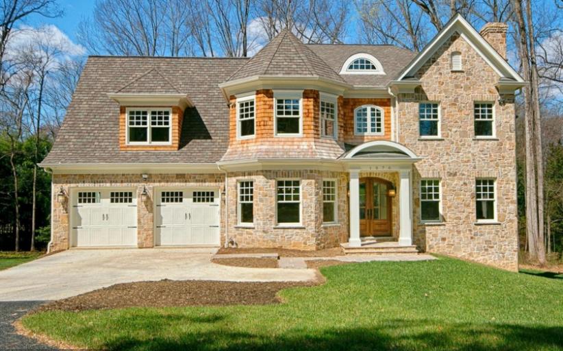 $2.3 Million Newly Built Stone & Shingle Home In McLean, VA