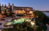 $4.2 Million Waterfront Tuscan Mansion In Jonestown, TX