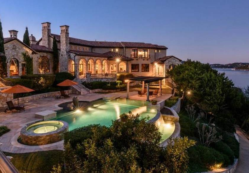4 2 Million Waterfront Tuscan Mansion In Jonestown Tx