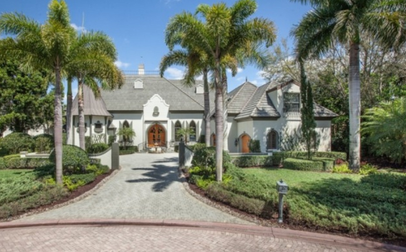 $1.7 Million French Inspired Country Club Home In Bonita Springs, FL