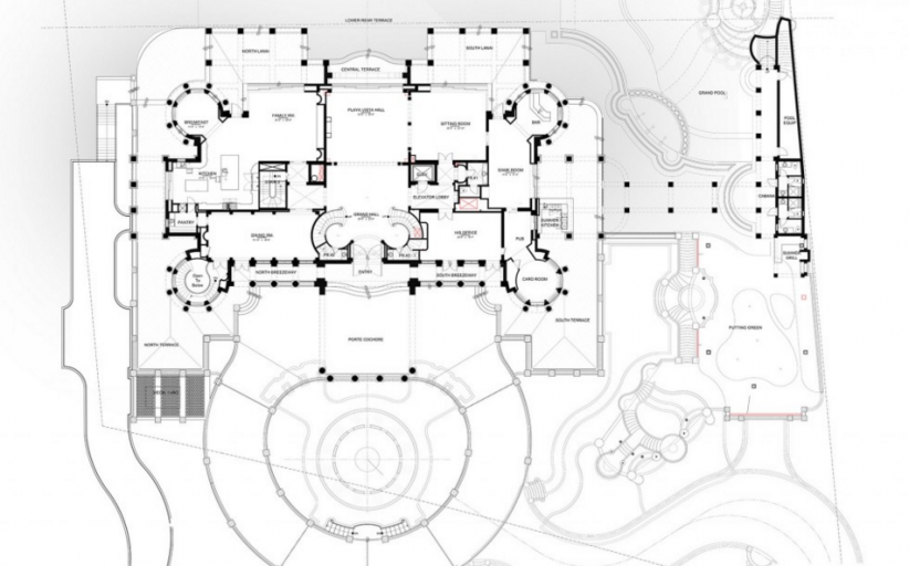 Floor Plans To The 60,000 Square Foot Le Palais Royal Oceanfront Mega Mansion In Hillsboro Beach, FL!