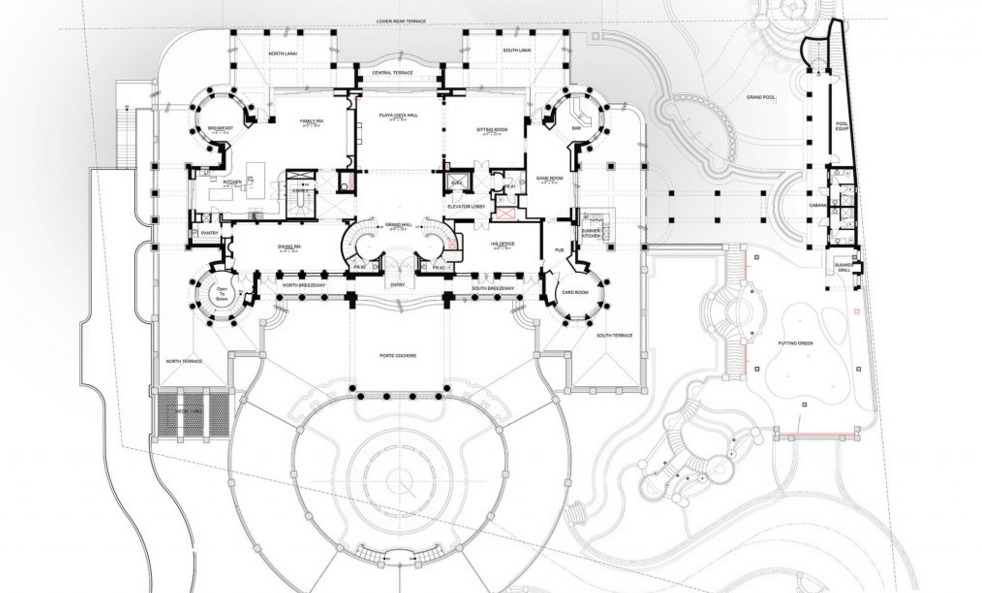 Mega mansion floor plans images for Mega homes floor plans