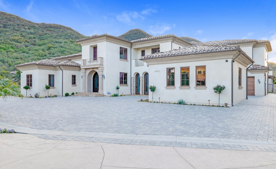 $5 Million Newly Built Modern Mediterranean Home In Agoura Hills, CA