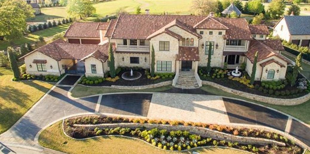$4 Million Stone Mansion In Westlake, TX