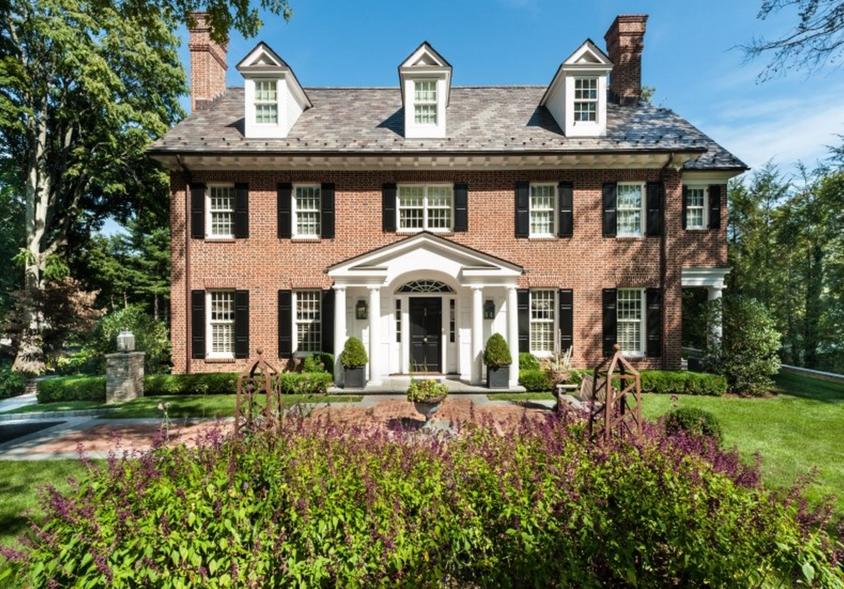 $5.75 Million Georgian Brick Home In Greenwich, CT