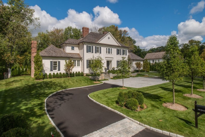 $5.75 Million Newly Built Colonial Home In Greenwich, CT