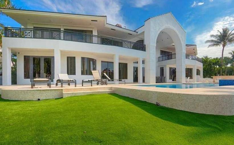 $12.9 Million Contemporary Waterfront Mansion In Golden Beach, FL