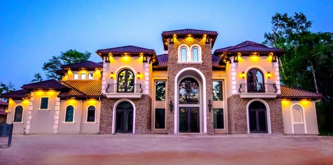 $4.8 Million Newly Built Mediterranean Mansion In The Woodlands, TX