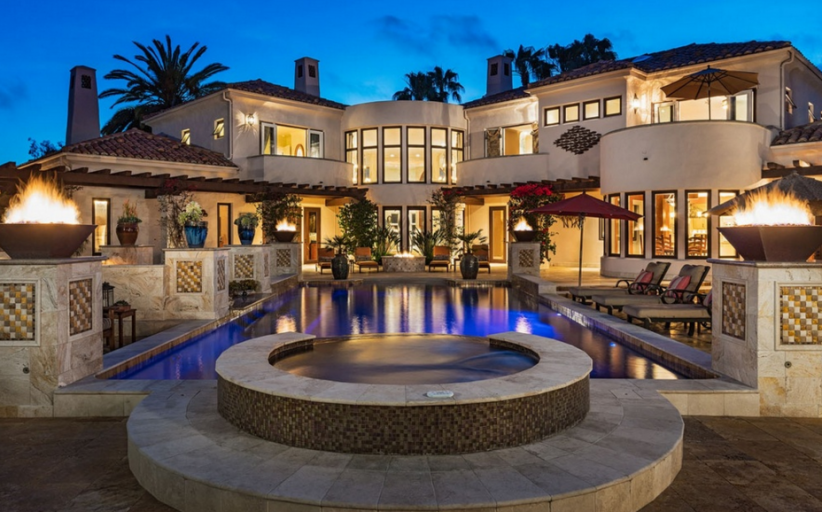 $5.65 Million Mediterranean Contemporary Mansion In Rancho Santa Fe, CA