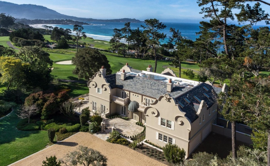Golf Course Mansion In Pebble Beach Ca