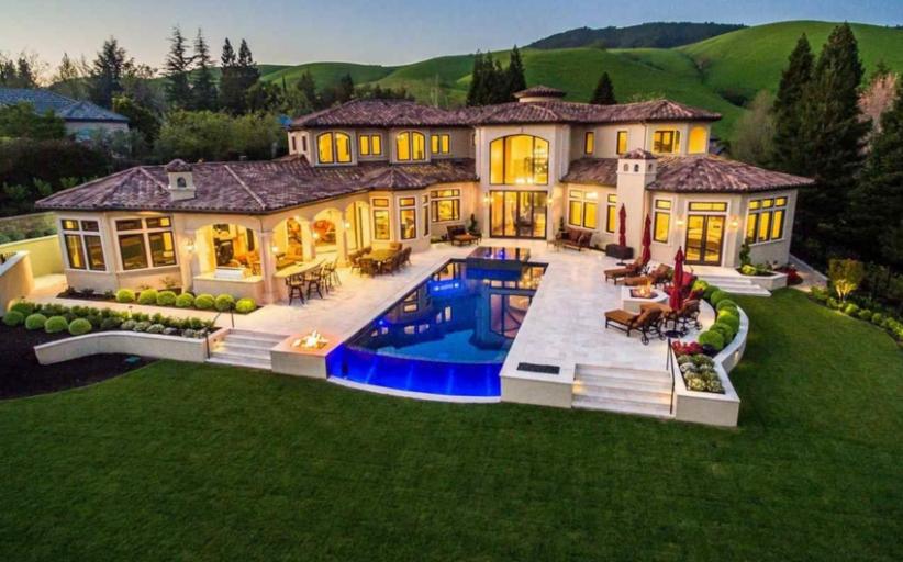 $5.9 Million Newly Built Mediterranean Home In Danville, CA