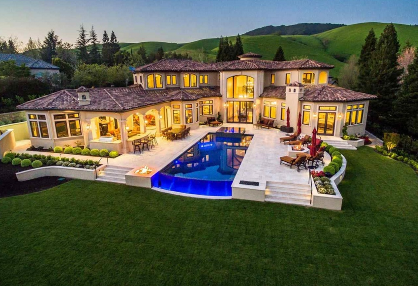 $5.9 Million Newly Built Mediterranean Home In Danville, CA