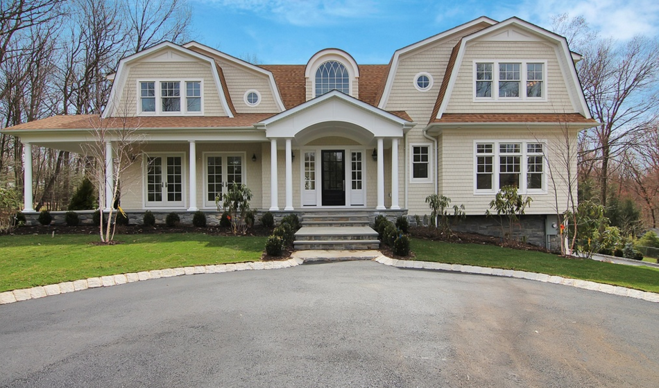 $2.195 Million Newly Built Shingle & Stone Home In Saddle River, NJ
